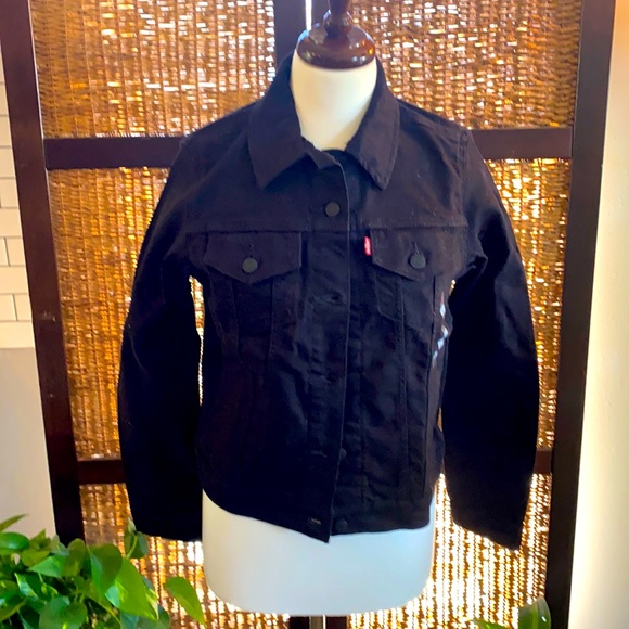 Lexi trucker jacket black demin Large